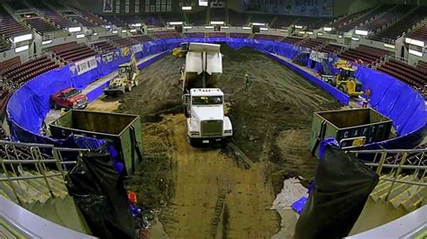 monster jam moves into the peoria civic center youtube