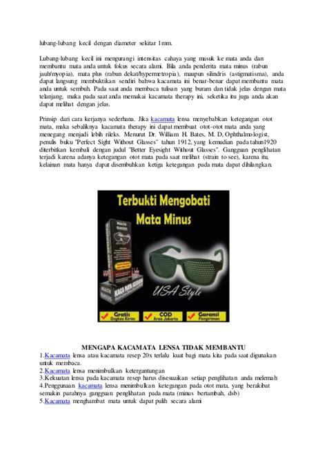 Pinhole Kacamata Terapi apa itu kacamata terapi pinhole