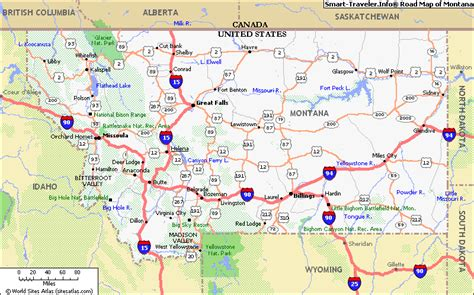 Montana Maps by Map Of Montana Click Now For City Maps Montana