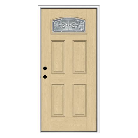 Doors Lowes Exterior Shop Reliabilt Decorative Prehung Inswing Fiberglass Entry Door Common 36 In X 80 In Actual