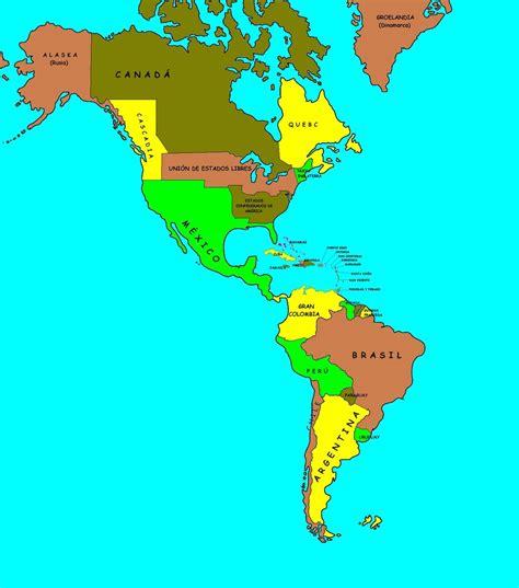 mapa america con division politica 191 cual es la division politica mapa de america