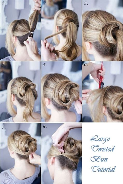 hair twisted around front of head bun large twisted bun hairstyle tutorial alldaychic