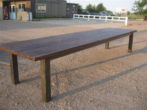 Reclaimed Wood Conference Table Metal Base Table 01