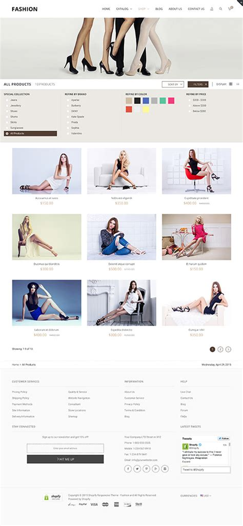 shopify themes with filters responsive shopify theme fashion