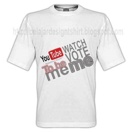 Tshirt Kaos Youtubers koleksi psd desain kaos t shirt design
