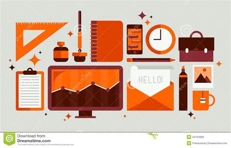 office layout design tool free set of office tools illustration stock vector