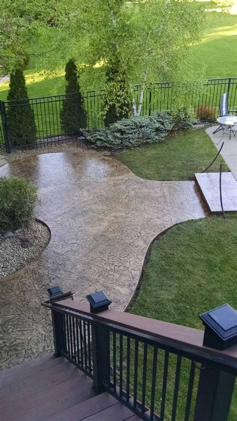 Roman slate stamped concrete patio. Orchard Stone with