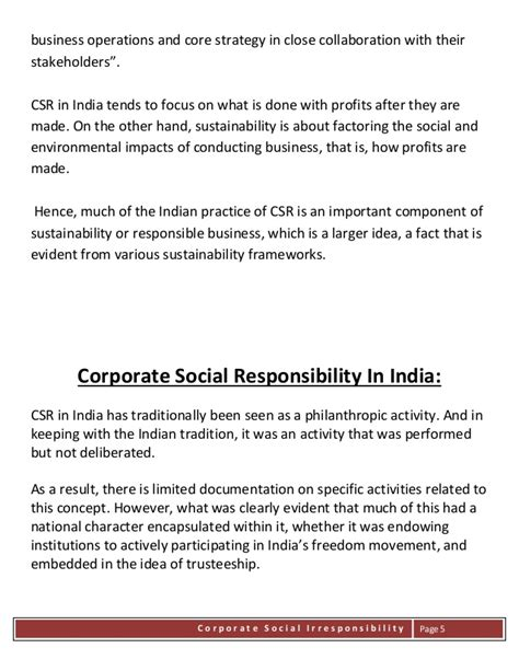 Corporate Social Irresponsibility corporate social irresponsibility in india