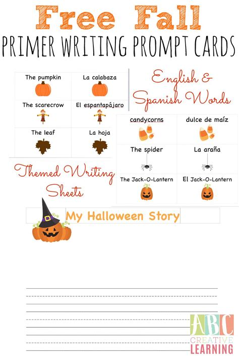 prompt cards template free fall writing prompts in and simply