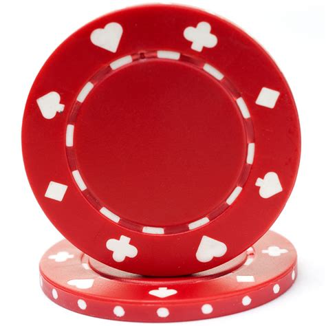25 Red Suited Poker Chips