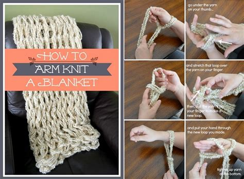 printable arm knitting directions how to arm knit a blanket easy tutorial our daily ideas