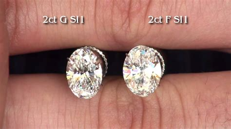 color with f 2ct oval brilliant diamonds g si1 and f si1