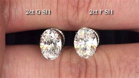 color with f 2ct oval brilliant diamonds g si1 and f si1
