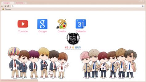 kpop theme exo exo wolf vs beauty chrome theme themebeta