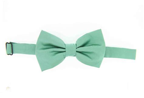 satin pre mint country silk bow tie