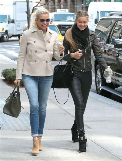 yolanda fosters jeans more pics of yolanda foster puffa jacket 5 of 10