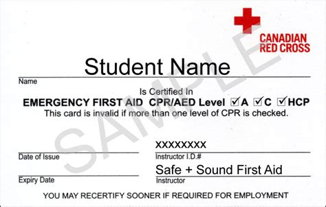 cross cpr certification card template cross cpr level c and hcp courses