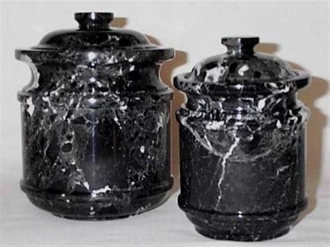 kitchen canisters black black marble kitchen canister set 2 piece set