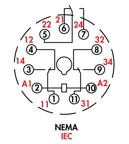 relay 11 pin wiring diagram 11 pin relay socket wiring
