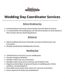 wedding planner contract template doc 12751650 sle event planner contract