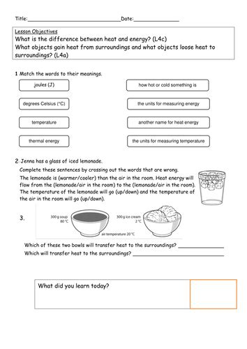 explore science worksheets 8i heat transfer by kitty