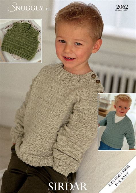 knitting for 5 year olds slipover and sweaters in sirdar snuggly dk 2062