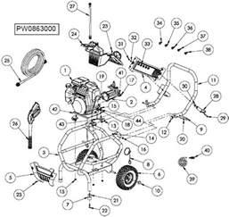 Honda Power Washer Parts Powermate Pressure Washer Model Pcw863000 Replacement