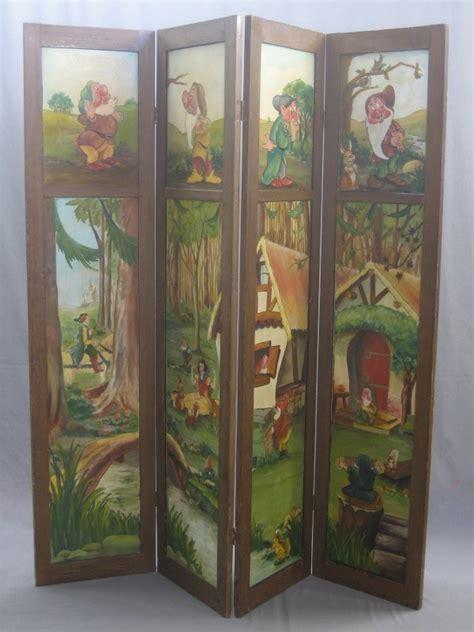Vintage Painted Tri Fold Room 138 Best Antique Screens Images On Folding