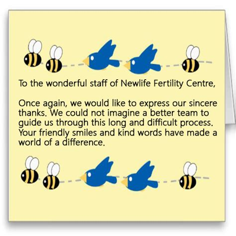 thank you letter to your fertility doctor thank you letters from our patients page 2 newlife