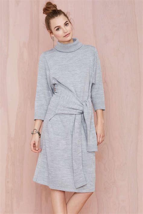 Kemeja Casual Tipe A Mu Grey grey knit dress swedish grey wraps and knits