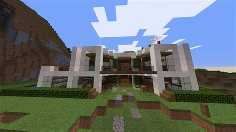 moderne villa ᐅ moderne villa mit garten in minecraft bauen minecraft