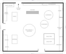 Floor Plan Of A Store Gallery For Gt Fashion Retail Store Floor Plan