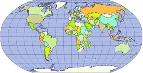 robinson map world map projections