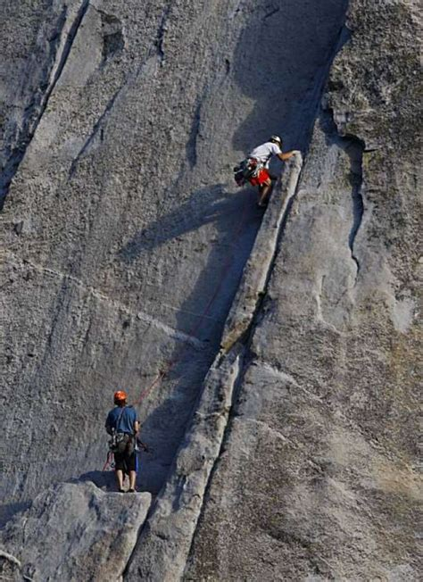squeak goes climbing in yosemite national park books climbers go up yosemite s nose to reset record san