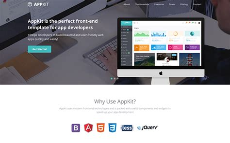 bootstrap themes landing appkit landing free bootstrap theme for developers and