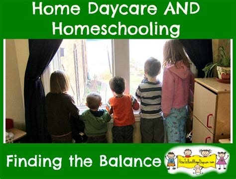 Running A Small Home Daycare The Balancing Act Running A Home Daycare And Homeschooling
