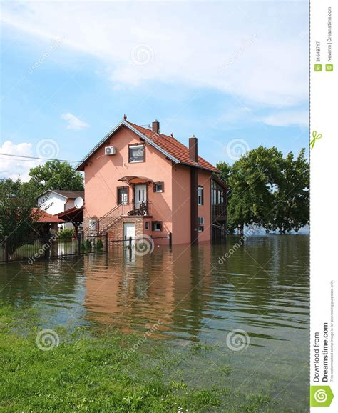 flooded house flooded house royalty free stock photography image 31648717