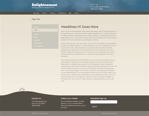 themeforest zurb foundation enlightenment church site template by stephaniehider