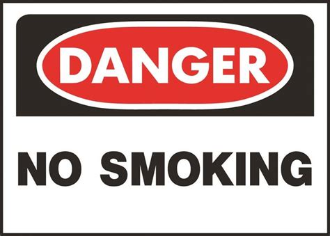 no smoking sign osha sign osha danger no smoking case of 5