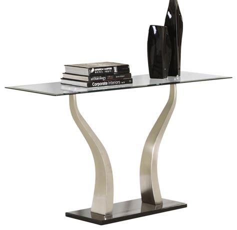 black metal and glass sofa table homelegance atkins rectangular glass sofa table chrome