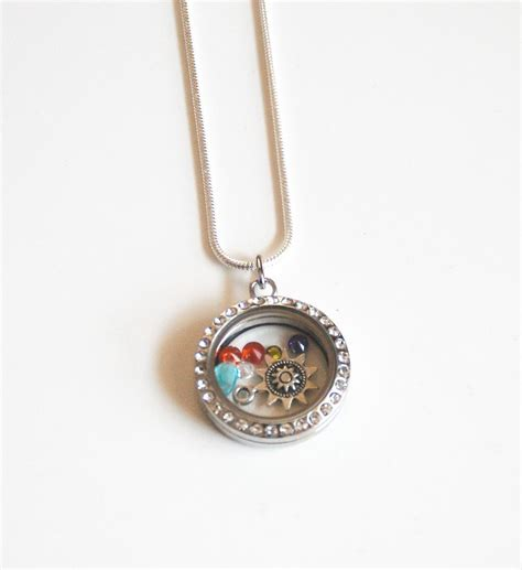 memory glass locket floating charm locket s day