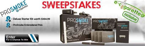 Cigarette Sweepstakes - prosmoke and e cigarettes 365 sweepstakes for huge electronic cigarette prizes