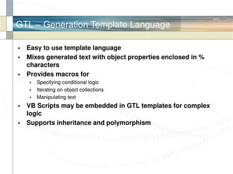 template language ppt the power of powerdesigner powerpoint presentation