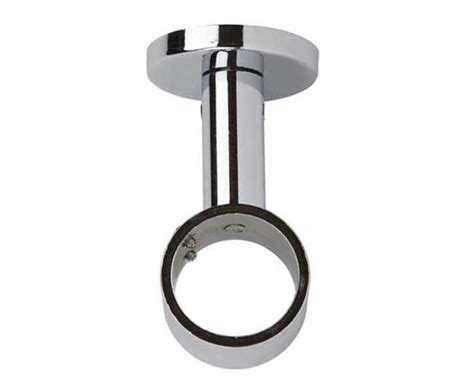 ceiling fix curtain poles fix your 28mm chrome pole to the ceiling with this bracket