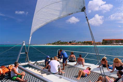 catamaran excursion aruba carnival freedom cruise review by jim zim