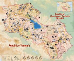 map of and armenia armenia nagornykarabakh