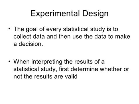 experimental design and data collection 1 3 experimental design