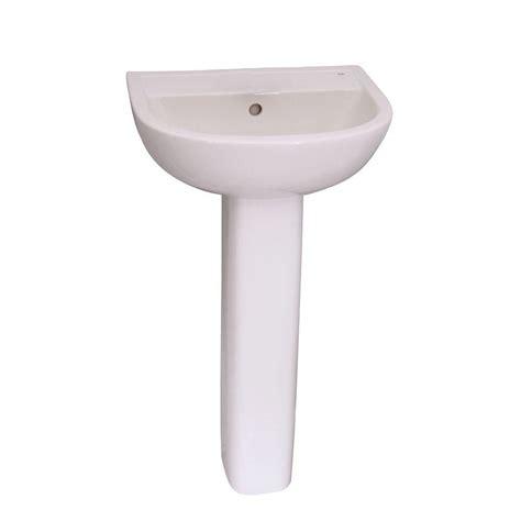 pedestal sink storage home depot kokols pedestal combo bathroom sink in clear wf 09 the