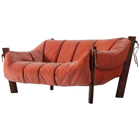 percival lafer sofa percival lafer two seat sofa in rosewood and leather for