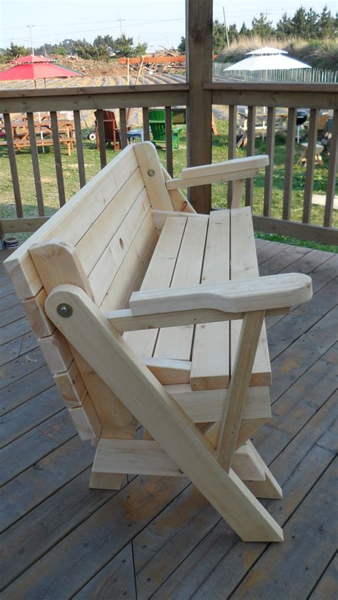 Folding Picnic Table Bench Plans